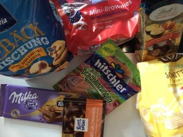 Nichts als Süßigkeiten